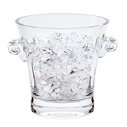 Chelsea Mouth Blown Crystal Ice Bucket 7""