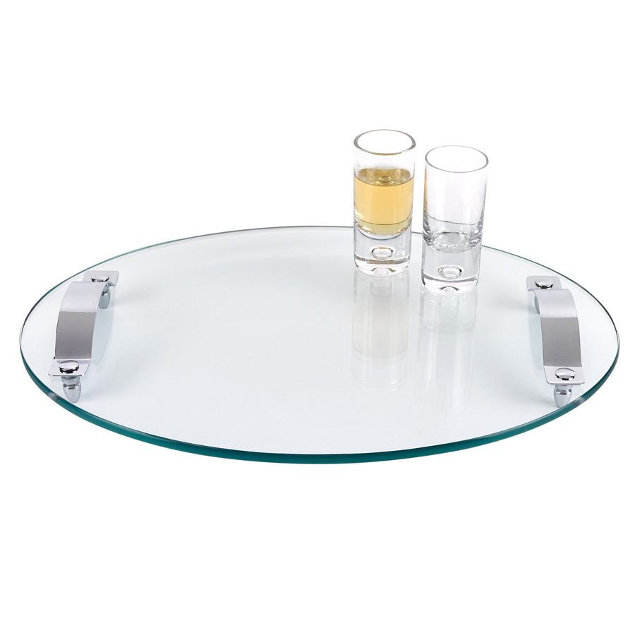 Contempo Oval Thick Glass Serving Tray