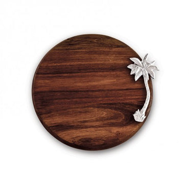 "Cutting Board Garden Palm Tree 12"" Round"