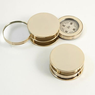 Gold Plated Paper Weight With Compass