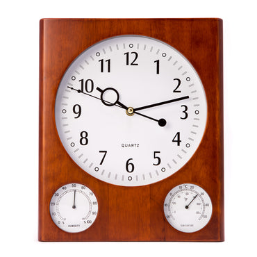 Wall Clock Thermo And Hygro
