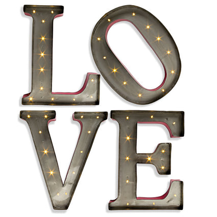 LOVE LED Letters, B/O 14'' H(Only Available Through Haiti Showroom)