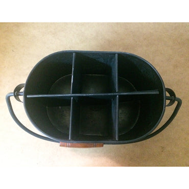Galvanized Black Print Caddy