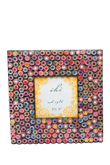 Color Pencil Mosaic Frame Large