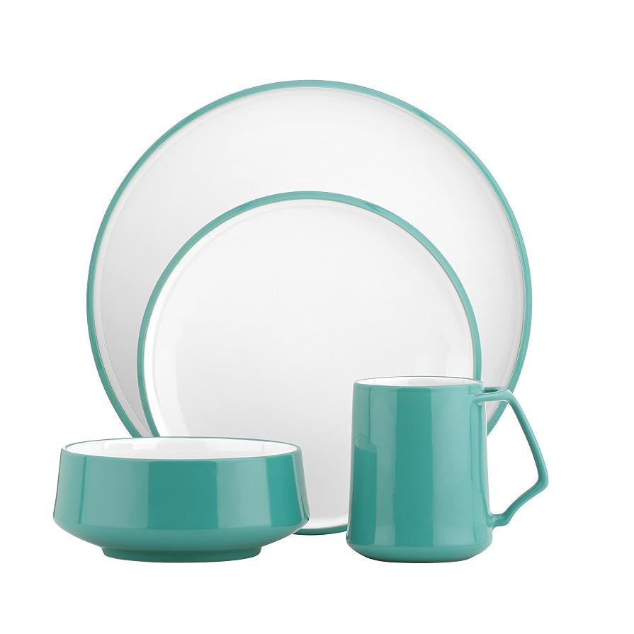 Kobenstyle Teal 16 Pieces Place Setting