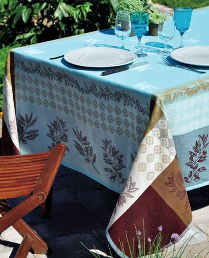 Tablecloth Olivado Turquoise