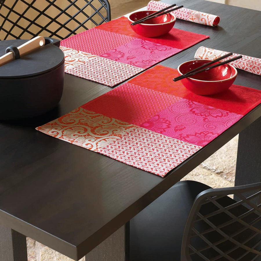 Fleurs De Kyoto Cherry Coated Placemat Set of 4