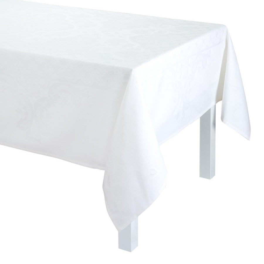 Azulejos White Tablecloth