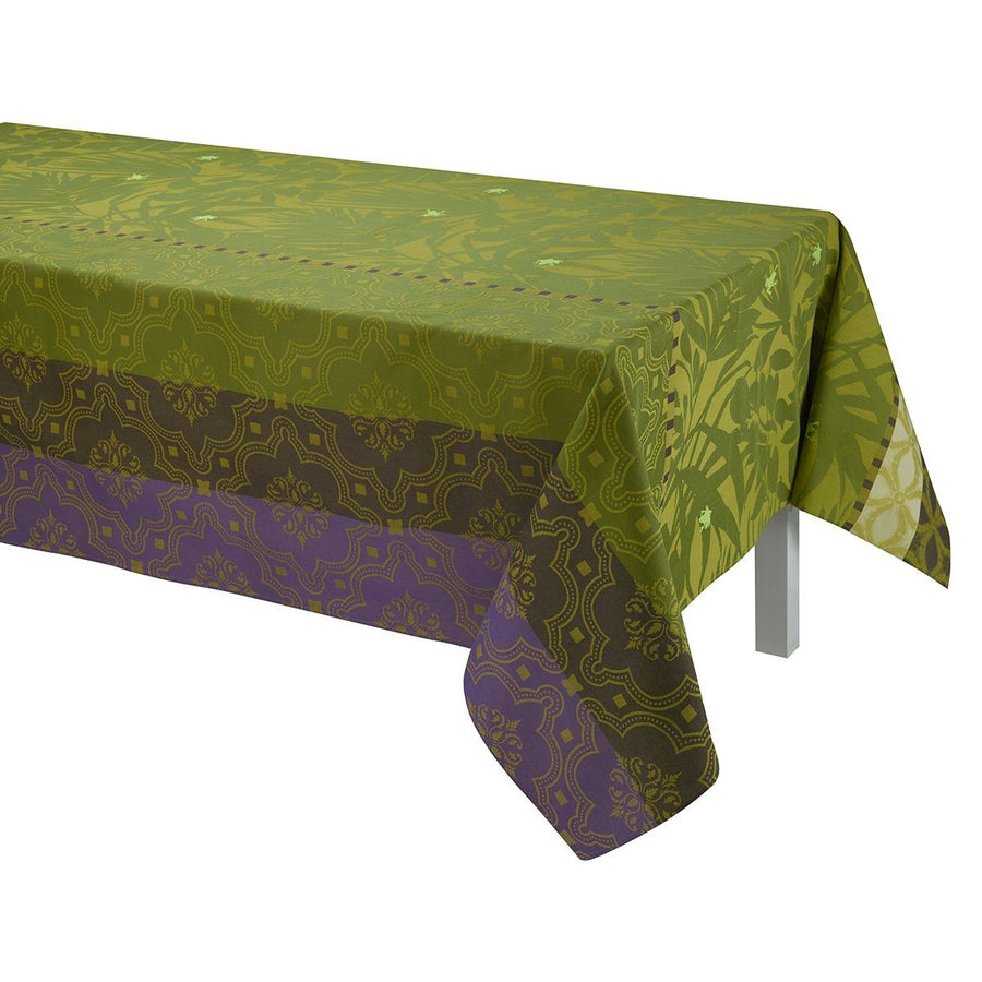 Bahia Green Coated Tablecloth