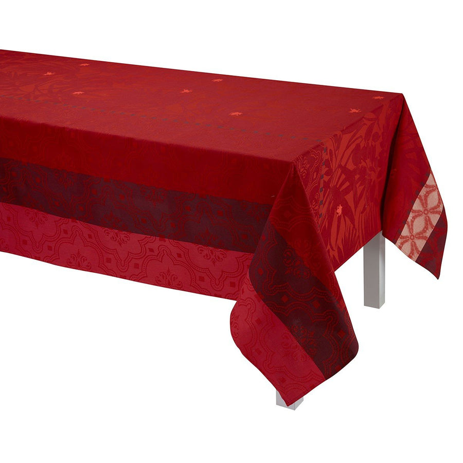 Bahia Red Coated Tablecloth