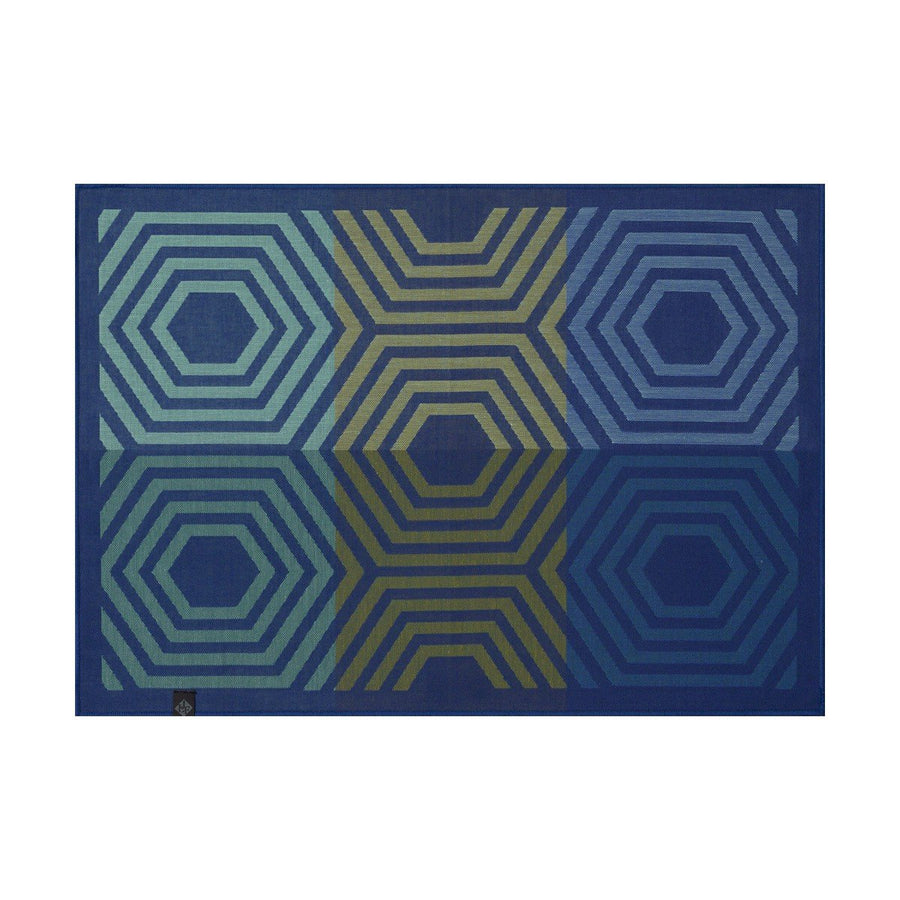 Kaleidoscope Vibration Blue Placemat Set of 4
