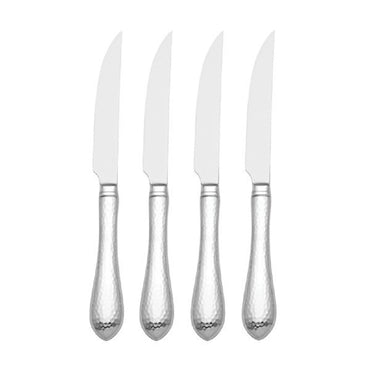 Hammered Antique 4-piece Steak Knife Set