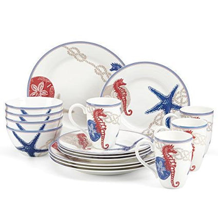 Oceanside 16-Pieces Dinnerware Set