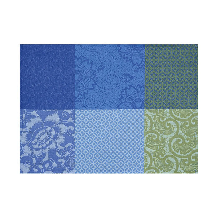 Fleurs De Kyoto Indigo Coated Placemat Set of 4