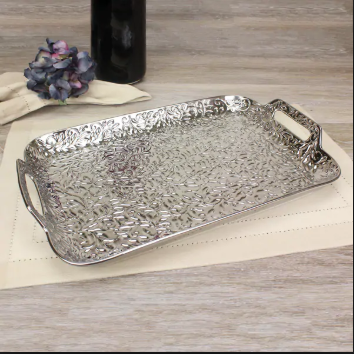 Romance Porcelain Serving Tray With Handles