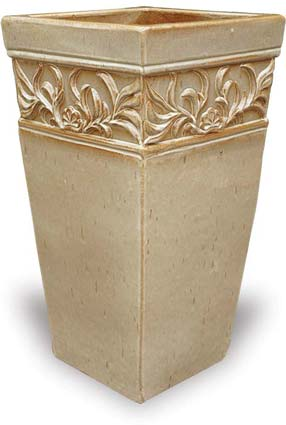 Tall Square Turkish Planter Cream Set of 2