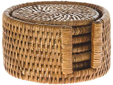 Rattan Coaters Set of 4
