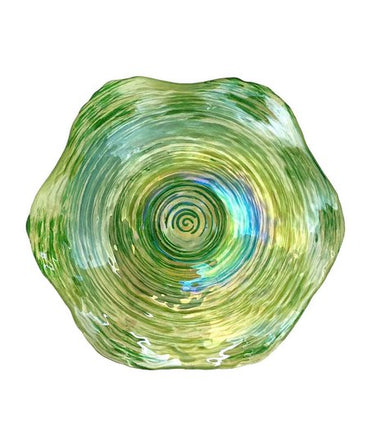 "Clam 12"" Green Bowl"