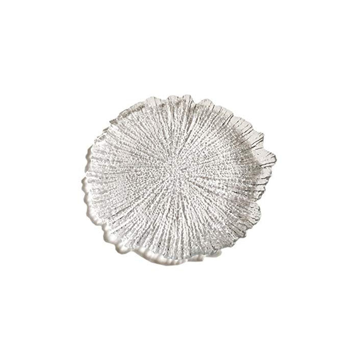 Brilliant Coral Clear Side Salad Plate Set of 12