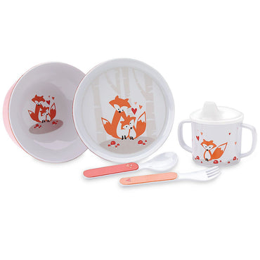 Hazelnut Hollow Fox 5pcs Dinnerware Set