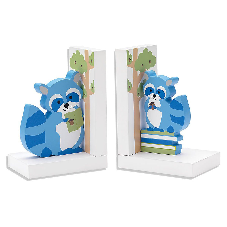 Hazelnut Hollow Raccoon Bookends