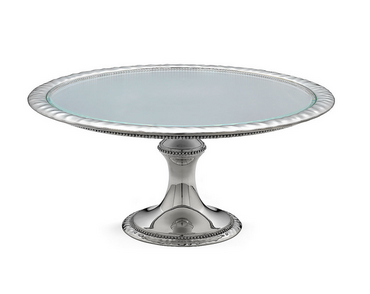 Heritage Banded Bead Cake Stand Large