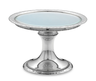 Heritage Banded Bead Small Cake Stand