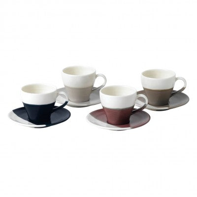 Coffee Studio Espresso Cup & Saucer Set of 4