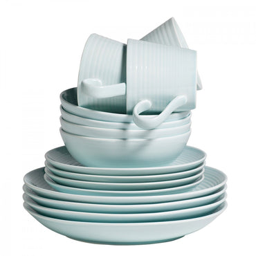 Maze Blue 16 Piece Dinner Set