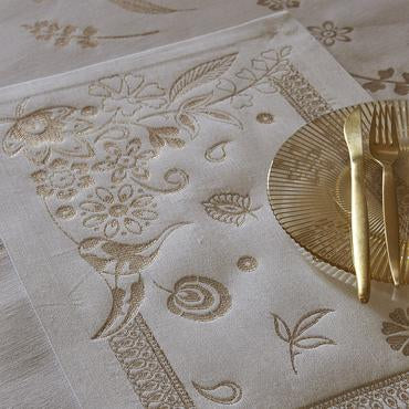 Haute Couture Gold Placemat Set Of 4