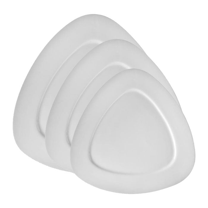 White Triangle Salad Plates Set of 6