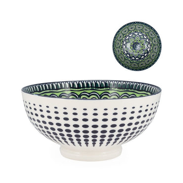 Kiri Porcelain Green Mandala Bowl