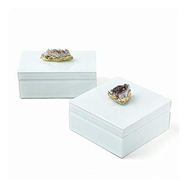Amethyst Geode Hinged Box