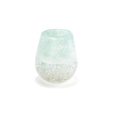 Horizon Frosted Candleholder Glass Set of 2