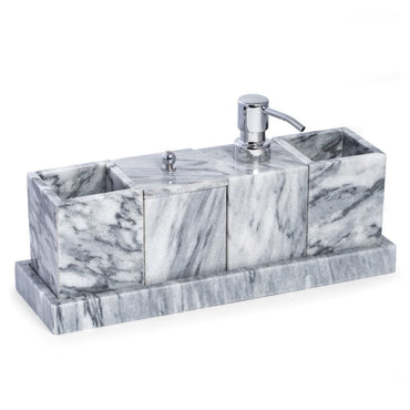 vanity 5 Piece Marble Bath Accessory Kit