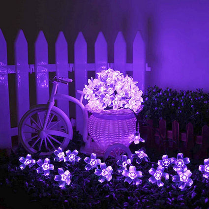 50 LED 8 Modes Waterproof Flower Garden Christmas Lights