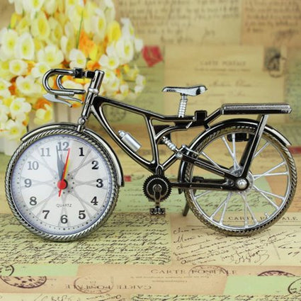 Vintage Arabic Numeral Bicycle Creative Table Clock
