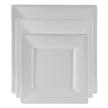 Whittier Square Plate Dinnerware Set of 12