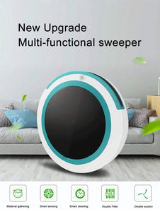 Automatic  Robot Vacuum Cleaner Mopping Sweeping Suction Cordless Auto Dust Sweeper Machine Anticollision for Home Cleaning Ableasy