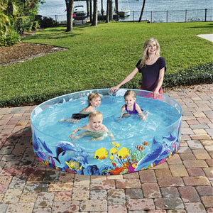 Children's Swimming Pool Blow Up Pool For Family Kids Backyard Foldable Children's Paddling Pool Inflatable Pool Large Size Ableasy