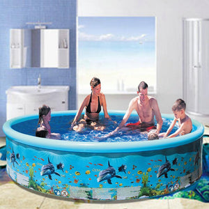 Home Family Plastic Inflatable Swimming Pool Round Paddling Pool Summer Outdoor Party Supplies For Kids Adult Ableasy