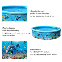 Load image into Gallery viewer, Home Family Plastic Inflatable Swimming Pool Round Paddling Pool Summer Outdoor Party Supplies For Kids Adult Ableasy