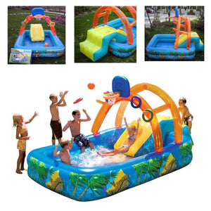 Inflatable Swimming pool with Slide for Kids 4-9 working days Shipped by DHL/Fedex Ableasy