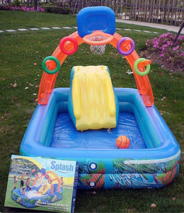 Inflatable Swimming pool with Slide for Kids Ableasy