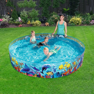 Plastic Swimming Pool Blow Up Pool For Family Kids Ableasy
