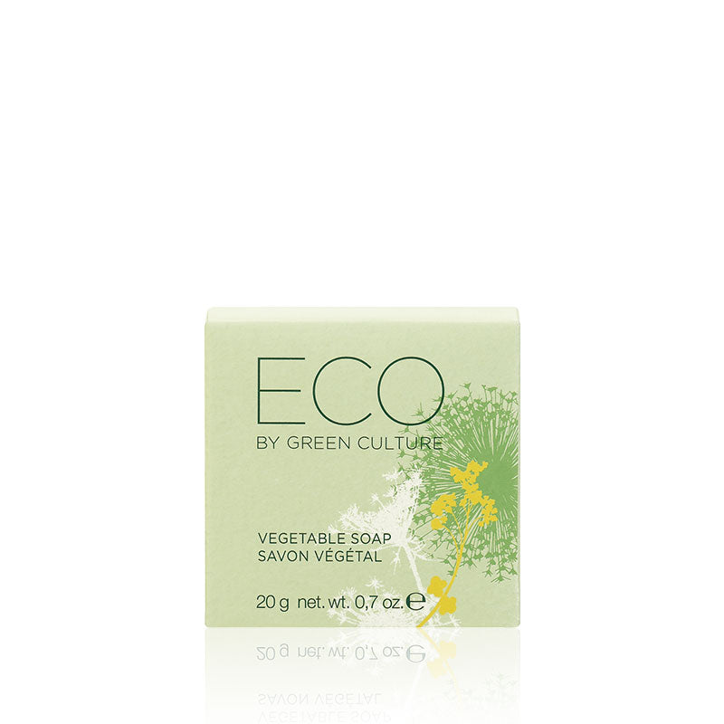 Eco by Green Culture, plantaardige zeep, in kartonnen doosje 20gr.