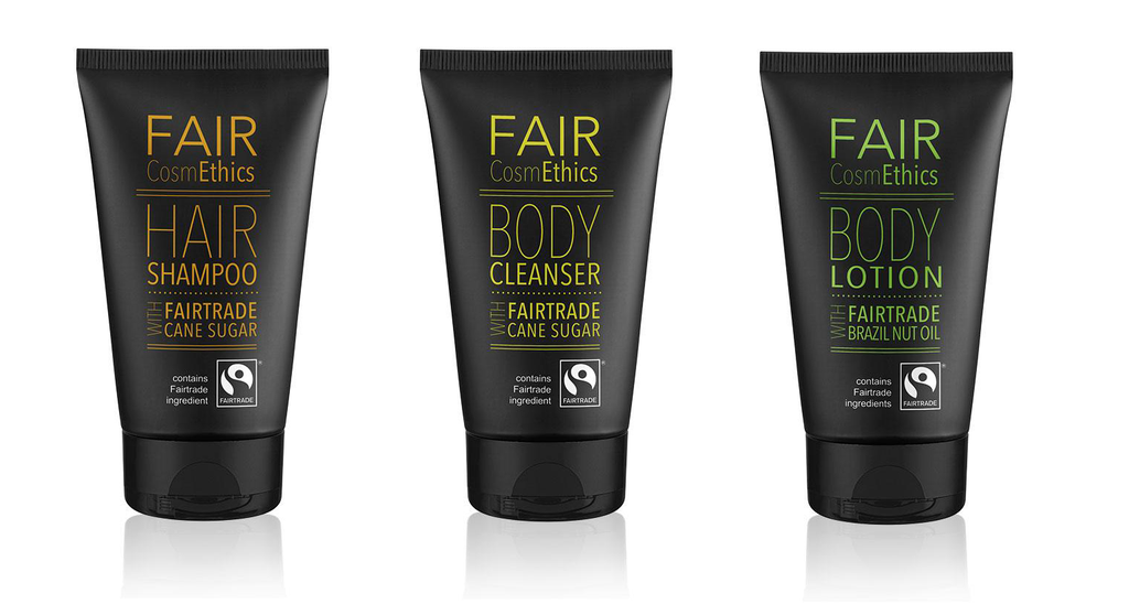 Douchegel, Shampoo & Bodylotion 150ml, Fair Trade Set