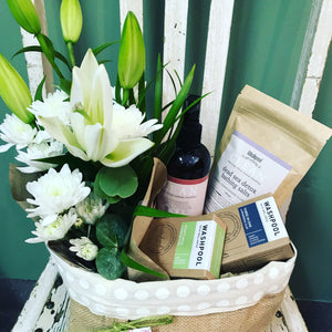 body products, flowers, Tenterfield flowers Tenterfield delivery Tenterfield florist basket