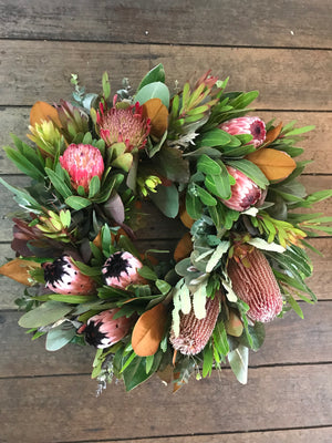 native flowers sympathy wreath tenterfield delivery funeral