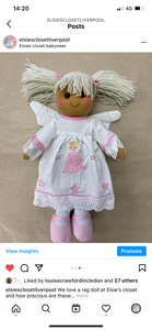 Angel with wings rag doll